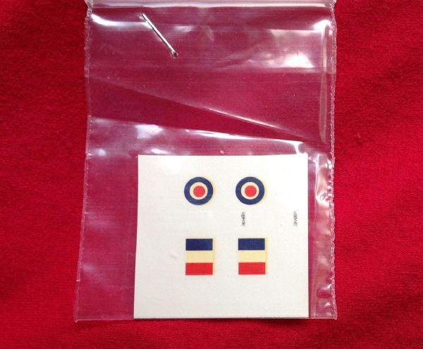 Dinky Toys 735 Gloster Javelin roundels (Waterslide Transfer) TRANSFERS / DECALS